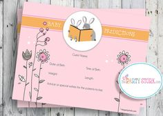 """Idea for """"advice"""" cards--a guessing game for baby's date/time arrival, height/weight"""