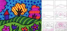 cubismo facil de dibujar para niños - Buscar con Google