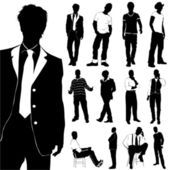 Fashion men set — Stock Vector