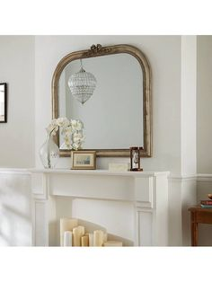 Buy Overmantel Bow Mirror, Gold, 95 x from our Mirrors range at John Lewis & Partners.
