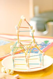 Fun things to do inside- building 3D shapes