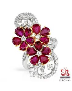 Product Name SIRO Made In Italy Ruby Ring Designed In 18K Two Tone Gold at Modnique.com