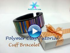 Polymer Clay Tutorial - How to Make a Cuff Bracelet - Lesson #7   Flickr - Photo Sharing!
