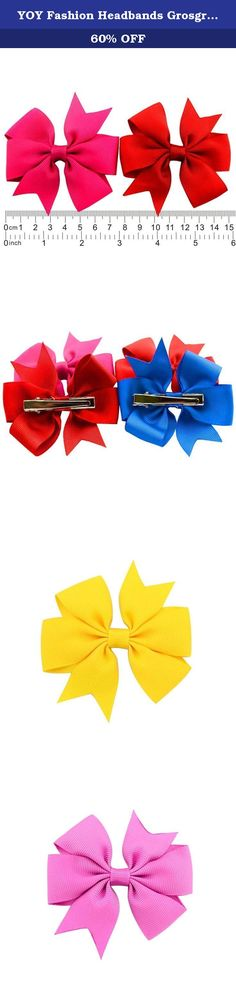 YOY Fashion Headbands Grosgrain Ribbon Pinwheel Boutique Hair Bows Alligator Clips for Baby Girls Kids Teens Toddlers Children Pack of 40. ASSORTED COLOR FOR EVERY OCASION The fantastic variety of colors are so gorgeous bright and beautiful. 40 handmade hair bows in different colors to choose from,available for almost all occasions when is needed,ensuring versatility for your little one's look,or even yourself. Set of great variety of colors to match your outfit,match anything wearing for...