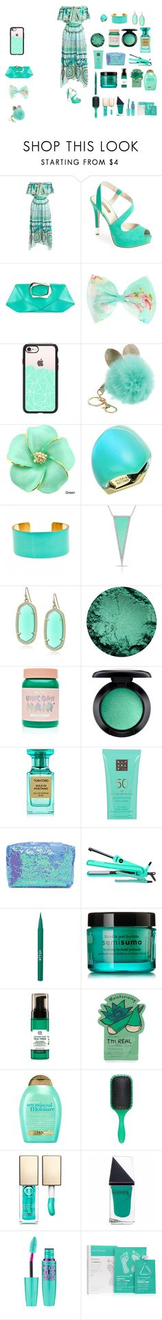 """Bahamas"" by sierracook14 ❤ liked on Polyvore featuring Temperley London, GUESS, Roger Vivier, Casetify, Alexis Bittar, Fornash, Kendra Scott, Lime Crime, MAC Cosmetics and Tom Ford"