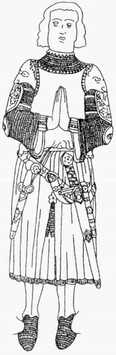 Effigies & Brasses: Naples Knight A (1300)
