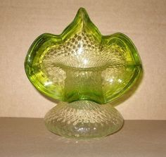 SMALL Magnificent ART Nouveau JACK in the PULPIT Glass VASE British or BOHEMIAN