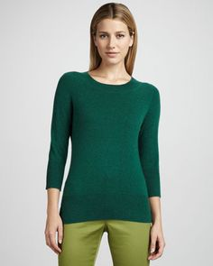 Basic Cashmere Sweater, Women\'s by Neiman Marcus at Neiman Marcus.