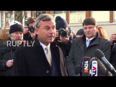 Austria: FPO's Hofer casts his vote in presidential election re-run - YouTube