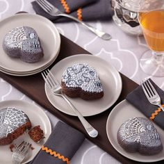 You will be ahead in your Halloween baking when you make these brownie skulls for your celebration. They are quick and easy to decorate with a silvery sheen using Wilton® Silver Color Mist™ Food Color Spray.