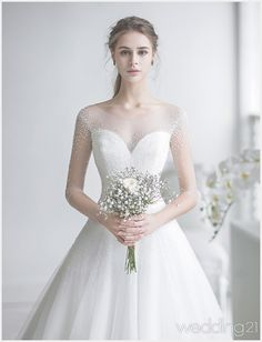 This elegant wedding dress from J Sposa Wedding featuring beautiful pearl embellishments is overflowing with angelic romance! This elegant wedding dress from J Sposa Wedding featuring beautiful pearl embellishments is overflowing with angelic romance! Stunning Wedding Dresses, Dream Wedding Dresses, Designer Wedding Dresses, Bridal Dresses, Beautiful Dresses, Bridal Gown, Princess Wedding, Bridal Looks, Marie