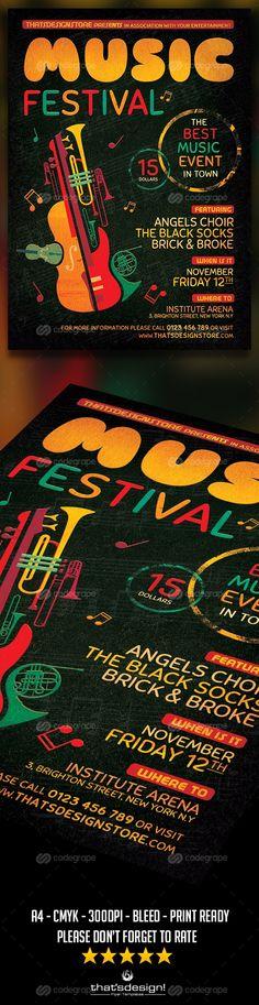 Music Festival Flyer Template V10 - http://www.codegrape.com/item/music-festival-flyer-template-v10/6484