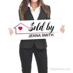 Real Estate Testimonial Prop - - different design on each side - thick White PVC Hard Plastic - FREE UPS shipping Real Estate Marketing, Online Marketing, Real Estate Signs, Sell Your House Fast, Instagram Handle, Social Media Channels, Home Ownership, Order Prints, Home Buying