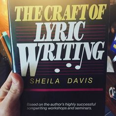 So apparently this is THE song writing book! We shall see... #songwriting #thecraftoflyricwriting