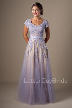 Modest Prom Dresses : Rylie  couldn't decide if i like purple or blue better