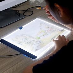 Led Drawing Board-Sketch Led Board-For Diamond Painting-For Cross Stitch-Pattern Tracing Pad-Board For Pattern-Drawing Tablet-Embroidery Led Planting Bulbs, Drawing Board, Tattoo Drawings, Tattoos, Projects To Try, Art Projects, Cross Stitch, Artist, Crafts