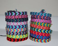 Double chevron friendship bracelet by brillosito on Etsy