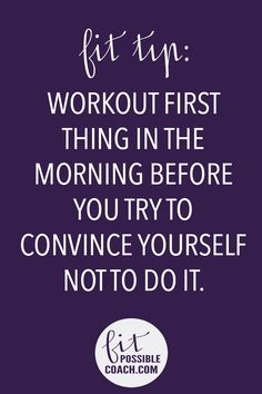 You Daily Health and Fitness Motivation provided by @fitpossiblecoach . Make sure you REPIN if you like seeing these quick quotes. This will help spread inspiration and motivation to more people searching! http://facebook.com/fitpossiblecoach