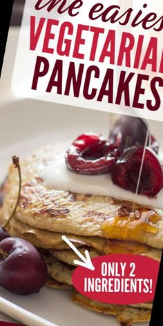 This world's simplest pancakes recipe contains just two ingredients (egg and banana) and is super quick - just minutes from bowl to plate! Simple and tasty.#Pancake #Recipe #Ingredient #Pancakes #Banana Pancake Recipe No Eggs 22+ The 2 Ingredient Banana Egg Pancakes | Pancake Recipe No Eggs Greek Yogurt | 2020 Banana Egg Pancakes, Banana And Egg, 2 Ingredients, Greek Yogurt, Eggs, Tasty, Plates, Simple, Recipes