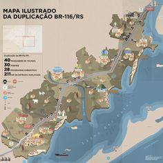 Como tornar um mapa mais amigável e ainda ampliar o número de informações valorizando cada município e destacando o potencial turístico de cada um? Esso foi o desafio. www.abio.cc