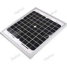 10 Watt Mono-crystalline Solar Panel Solar Module in Anodized Aluminum Frame MBT-115018 http://www.tinydeal.com/es/10w-high-efficiency-mono-crystalline-solar-panel-p-67893.html