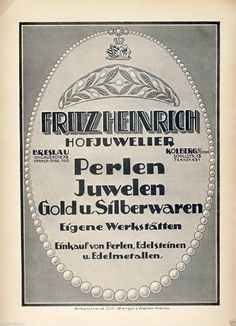 Juwelier Heinrich Breslau Kolberg Reklame 1923 Kolobrzeg Wroclaw Ad jeweler   eBay