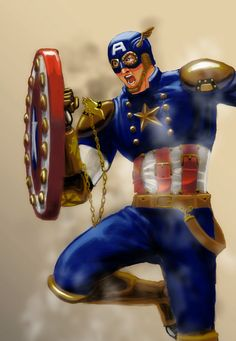 steampunk avengers | Steampunk Captain America by ecelsiore