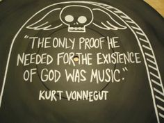 "kurt+vonnegut+quotes | Kurt Vonnegut Quote Painted Vinyl Record by valderie on Etsy ""The only ..."