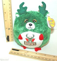"MILWAUKEE BUCKS TY BEANIE BALLZ NBA BASKETBALL 5"" TOY PLUSH FIGURE 2012 NEW  #Ty"