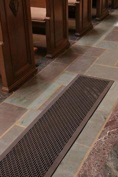 Herringbone floor register cover  Custom vents available at ventandcover.com