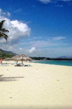 Beautiful, wide, white sandy beaches of Playa Dorada, Dominican Republic