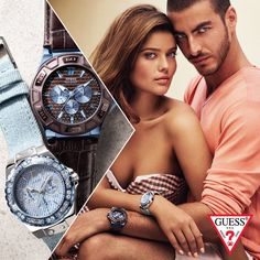 Sports meets chic. Guess features a collection of timepieces with their iconic signature combinations.  Expect to see fashion-forward designs and dynamic styles.