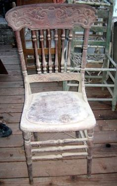 Vintage Wood Chair by vintagehouses on Etsy, $15.00