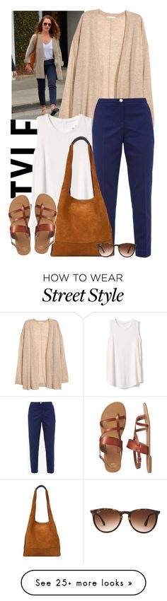 """Street style: Minka KeLy"" by francyilaria on Polyvore featuring Gap, Ted Baker, rag & bone and Ray-Ban"
