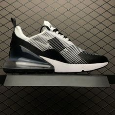 c05bb3d513af Nike Air Max 270 Flyknit Black and White Men s Running Shoes AO1023-993-3