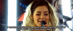 """""""I created a fictional character called 'Electra Heart' to talk about love, and how crap it is!"""""""