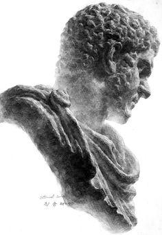 カラカラ デッサン Dessin drawing Plaster figure