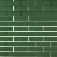 Fern Glass Tile - 3 x 9 - 100469949 Green Tile Backsplash, Wall Tiles, Tile Mosaics, Window Grill Design, Polished Porcelain Tiles, Tile Wallpaper, Victorian Bathroom, Attic Remodel, Mosaics