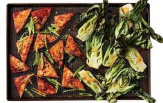 ASIAN TOFU WITH BABY BOK CHOY http://www.womenshealthmag.com/food/sheet-pan-dinner-recipe/slide/4