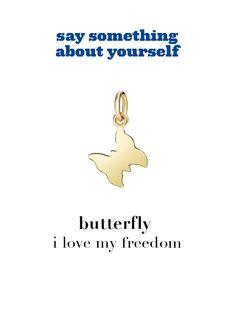 Dodo charm: butterfly - i love my freedom