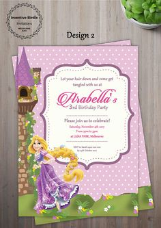 Rapunzel birthday invitation pinterest birthdays disney rapunzel birthday invitation pinterest birthdays disney birthday and disney invitations filmwisefo