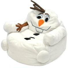 Figural Toddler Bean Chair Character Frozen Olaf Disney Bag Kids Children's Small Kid Play Furniture 100 percent polyester fabric, Assembled Product Dimensions (L x W x x x Inches Olaf Character, Character Design, Toddler Bean Bag Chair, Bean Chair, Kids Room Furniture, Bedroom Furniture, Disney Frozen Olaf, Lounge Seating, Chair Pads