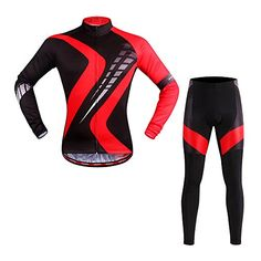 SUN Unisex Outdoor Sports Cycling Bike Long Sleeve Jersey  Padded Pants Suit SCS297 M * Check out the image by visiting the link.