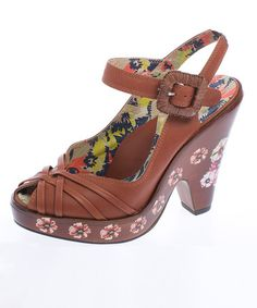 Take a look at this Tan Garland Sandal  by Miss L Fire on #zulily today!