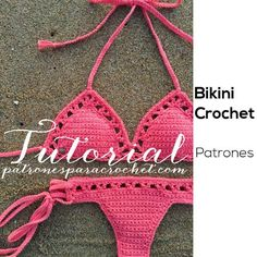 Shop stylish women's swimwear at FABKINI & find tankinis, bikinis, one-piece swimsuits, monokinis & more. Bikini Crochet Patron, Bikinis Crochet, Crochet Bra, Crochet Bikini Top, Crochet Collar, Cotton Crochet, Crochet Clothes, Crochet Designs, Crochet Patterns