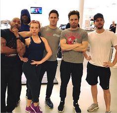 Scarlett and Sebastian training for avengers: infinity war together. Winterwidow & Byckynat confirmed!!!!!!