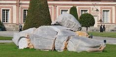 Daniel Dewar and Gregory Gicquel smoked way too much rock when creating this stone sculpture which was obviously inspired by the Ferrari Testarossa