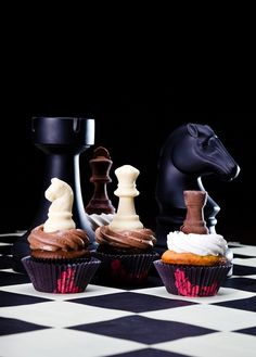 Cupcakes - Awesome! I think I'll provide these as treats for the parents who I work with during Chess Club before the winter break!