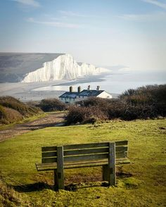 Seven Sisters, Sussex. Now that's a seat with a view! Tag someone who would love this! Although it's a bit windy today, the sun is out and the snowdrops are starting to appear at our local deer park. So we quite fancy an adventure! This smashing place is just 1.5 hours away from London, so if you need a break from the big city, this is a perfect spot on the south east coast of England. Those white clif