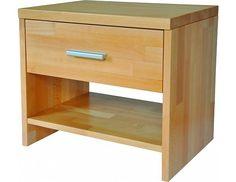 Masivní noční stolek TNS2 Masivní noční stolek slovenské výroby se zásuvkou s kuličkovým výsuvem a 1 policí. Zásuvku zdobí hliníková úchytka. Noční stolek z masivního bukového dřeva o síle 30/20 mm vyniká originálním designem, kvalitním … Thing 1, Nightstand, Furniture, Design, Home Decor, Decoration Home, Room Decor, Night Stand, Home Furniture